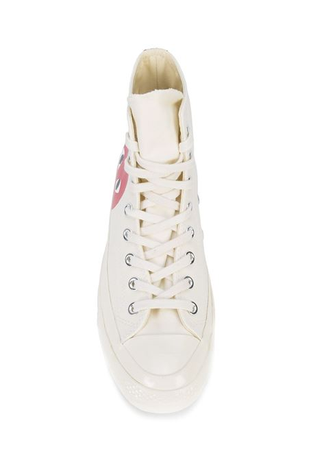 Sneakers a stivaletto con stampa cuore PLAY COMME DES GARCONS | Scarpe | AZ-K1122