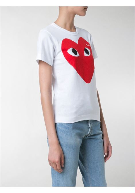 T-shirt con stampa e logo cuore PLAY COMME DES GARCONS | T-shirt | P1T0251