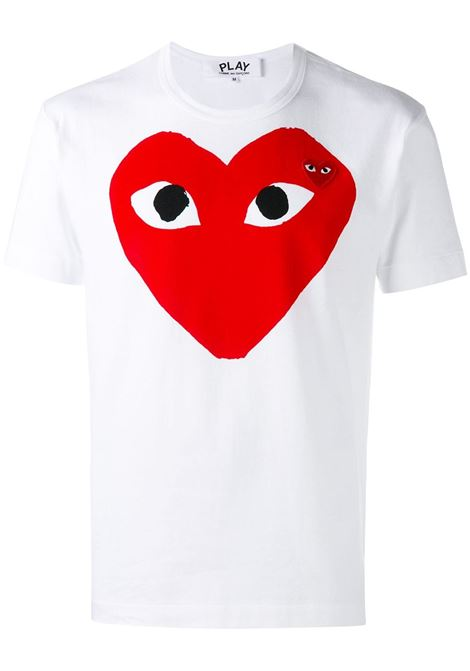T-shirt con stampa e applicazione cuore PLAY COMME DES GARCONS | T-shirt | P1T0261