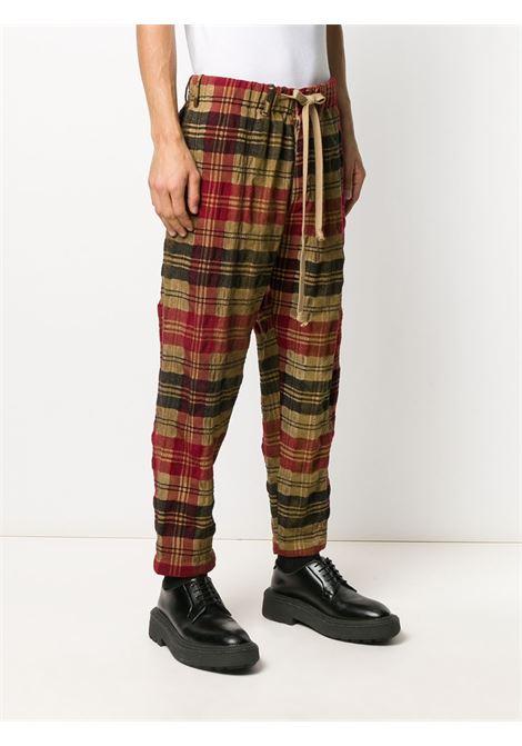 Pantaloni tartan con vita elasticizzata UMA WANG | Pantalone | UM3506/UW279