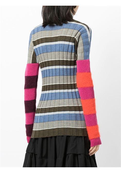 maglia collo alto a righe COLVILLE | Maglia | CVF21646BLUE