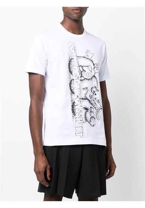 t-shirt manica corta con stampa KAWS COMME DES GARCONS SHIRT | T-shirt | FH-T0071