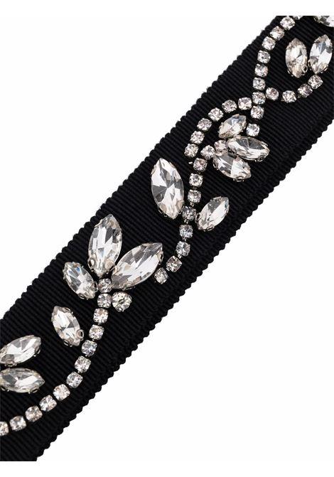 cintura in tessuto con cristalli ERDEM | Cintura | 1434BGBEBLACK/CRYSTAL