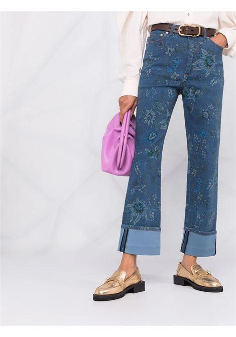 jeans con stampa fiori ERDEM | Jeans | 6277HVDINDIGO/BLUE