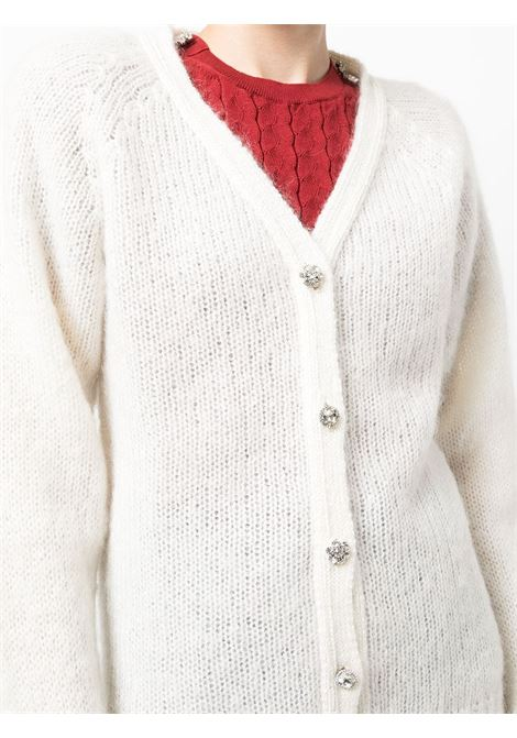 cardigan con bottoni gioiello ERDEM | Cardigan | 8265WMKWHITE