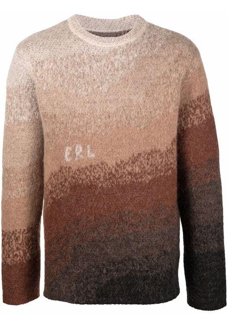 maglione girocollo con colore sfumato ERL   Maglia   ERL03N003BROWN