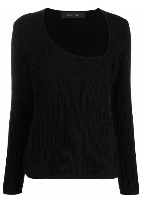 maglia con scollo asimmetrico FEDERICA TOSI | Maglia | FTI21MK056.0FTAI210002