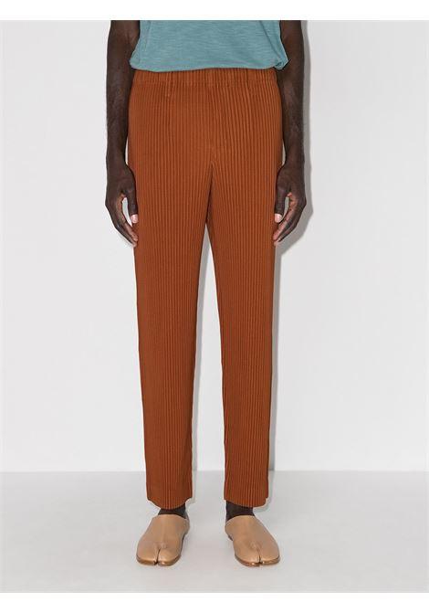 pantalone in tessuto plissé HOMME PLISSE | Pantalone | HP18JF15542