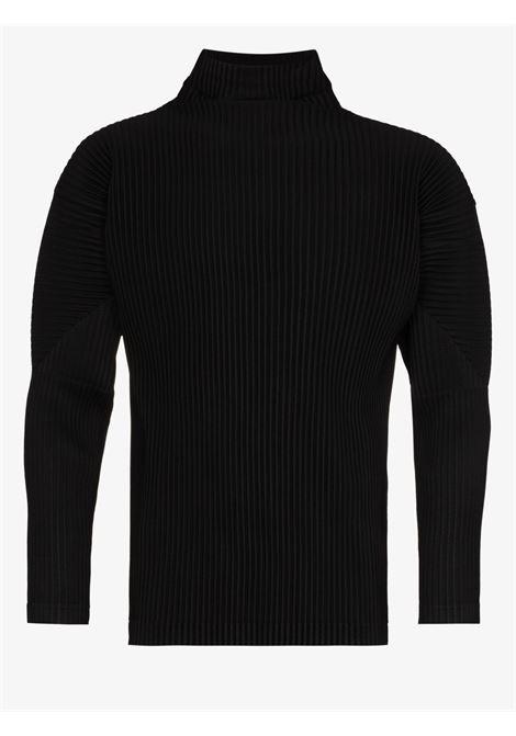 maglia collo alto in tessuto plissé HOMME PLISSE | Maglia | HP18JK12215