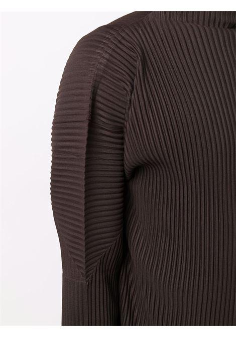 maglia a collo alto in tessuto plissé HOMME PLISSE | Maglia | HP18JK17345