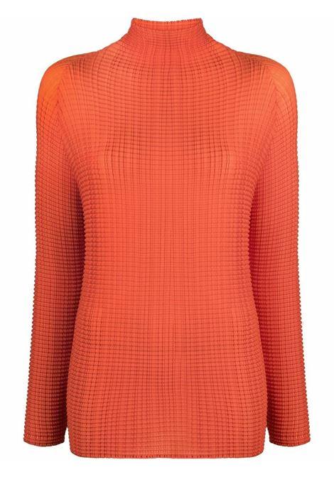 maglia collo alto in tessuto plissé ISSEY MIYAKE | Maglia | IM18FJ40824