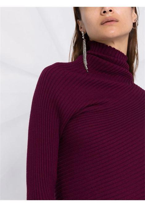 maglia asimmetrica a coste MARQUES ALMEIDA | Maglia | KN0005MKNAUBERGINE
