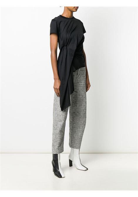 t-shirt manica corta con drappeggio MARQUES ALMEIDA | Top | TP0275JRSBLACK