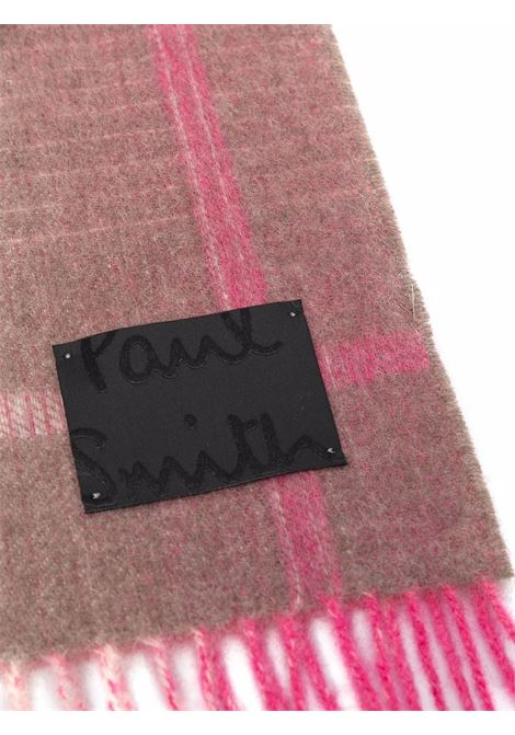 sciarpa a quadri con frange PAUL SMITH | Sciarpa | W1A-967F-GS0662