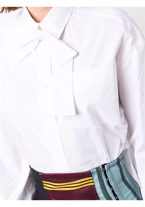 camicia bianca con fiocco PHILOSOPHY di LORENZO SERAFINI | Camicia | A020371221