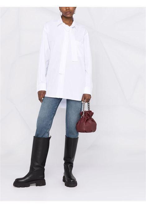 camicia lunga oversize con fiocco PHILOSOPHY di LORENZO SERAFINI | Camicia | A022257171