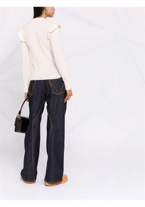 maglione girocollo con bottoni oro su spalla PHILOSOPHY di LORENZO SERAFINI | Maglia | A090157024