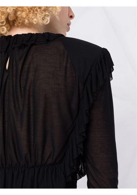 top manica lunga con rouches PHILOSOPHY di LORENZO SERAFINI | Maglia | A12025734555