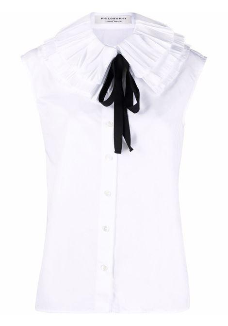 camicia smanicata con collo plissettato PHILOSOPHY di LORENZO SERAFINI | Camicia | V021457171