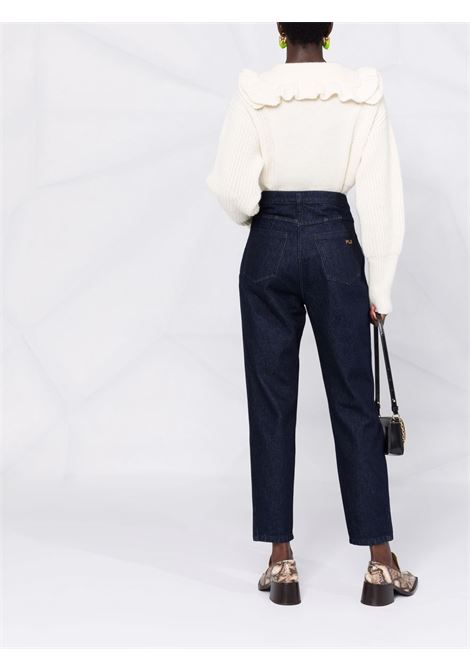 pantalone in denim vita alta PHILOSOPHY di LORENZO SERAFINI | Pantalone | V03245730290