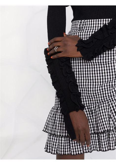 maglia a costine con collo alto e rouches su maniche PHILOSOPHY di LORENZO SERAFINI | Maglia | V09235705555