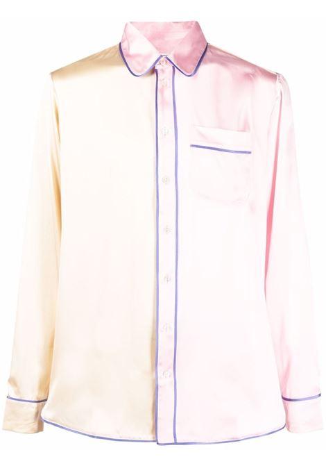 camicia bicolore PIERRE LOUIS MASCIA | Camicia | ADANA/U10642BEIGE/ROSA