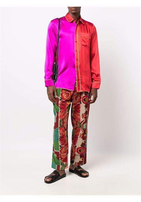 camicia bicolore PIERRE LOUIS MASCIA | Camicia | ADANA/U10642FUXIA/ROSSO