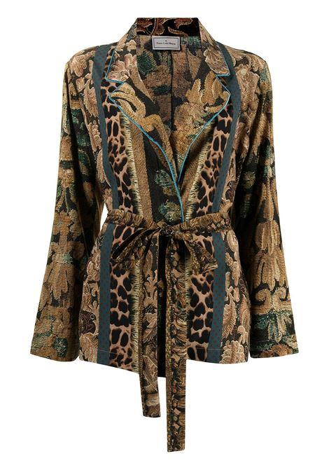 giacca stampata  sfoderata con cintura