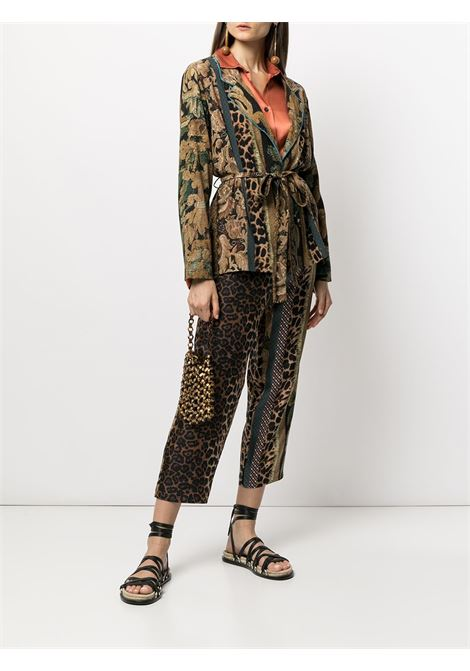 giacca stampata  sfoderata con cintura PIERRE LOUIS MASCIA | Giacca | ADANASTR/SV11096760