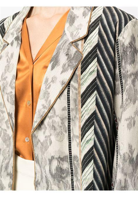 giacca stampata sfoderata con cintura PIERRE LOUIS MASCIA | Giacca | ADANASTR/SV11096765