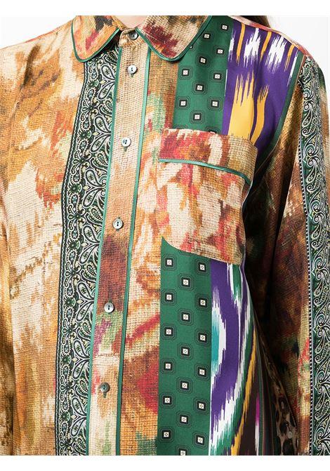camicia stampata manica lunga PIERRE LOUIS MASCIA | Camicia | ALOE/S10642121761