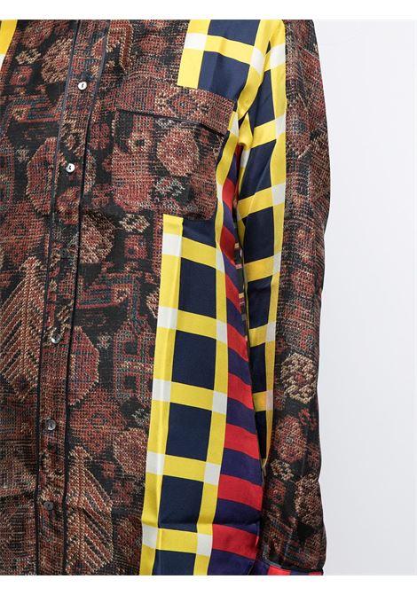 camicia fantasia con collo stondato PIERRE LOUIS MASCIA | Camicia | ALOE/S10642121764