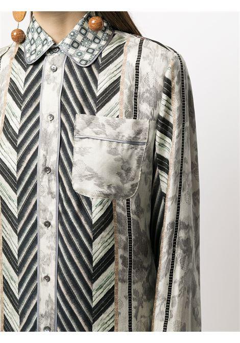 camicia fantasia con collo stondato PIERRE LOUIS MASCIA | Camicia | ALOE/S10642121765