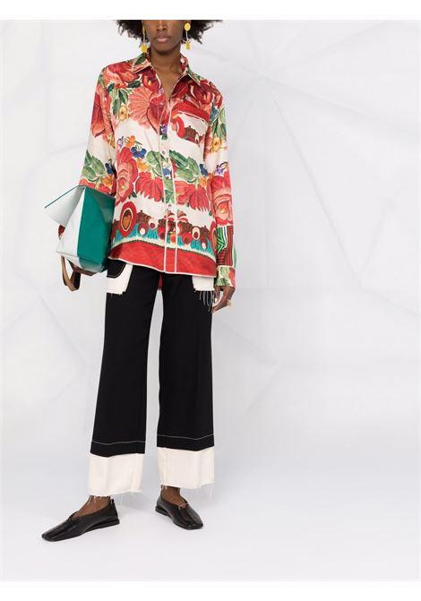 camicia in seta stampata PIERRE LOUIS MASCIA | Camicia | ALOE/S10642121769