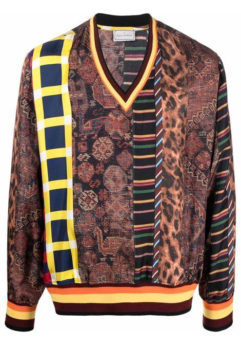 maglia stampata scollo a V