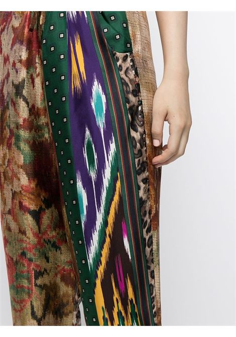 pantalone fantasia con elastico in vita e coulisse PIERRE LOUIS MASCIA | Pantalone | ALOE/S10959122010