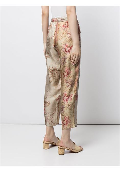 pantalone fantasia con elastico in vita  e coulisse PIERRE LOUIS MASCIA | Pantalone | ALOE/S10959122051