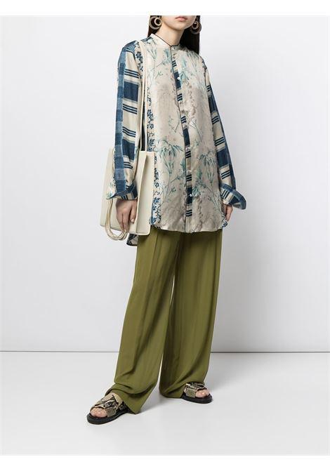 camicia fantasia con collo alla coreana PIERRE LOUIS MASCIA | Camicia | ALOE/S11185121763