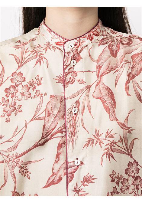 camicia fantasia con collo alla coreana PIERRE LOUIS MASCIA | Camicia | ALOE/S11185121758
