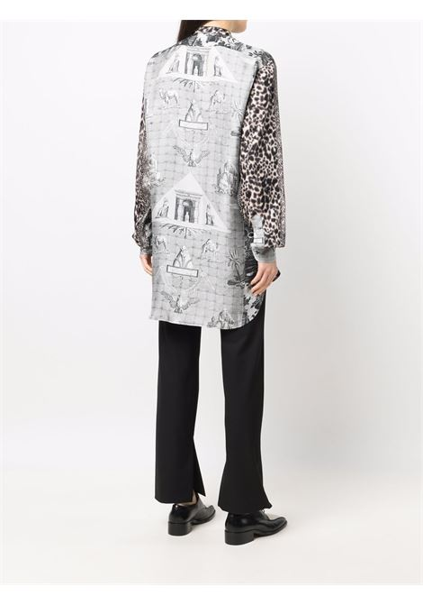 camicia fantasia con collo alla coreana PIERRE LOUIS MASCIA | Camicia | ALOE/S11185121770