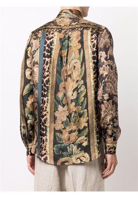 camica in seta con stampa PIERRE LOUIS MASCIA | Camicia | ALOE/S11190121760