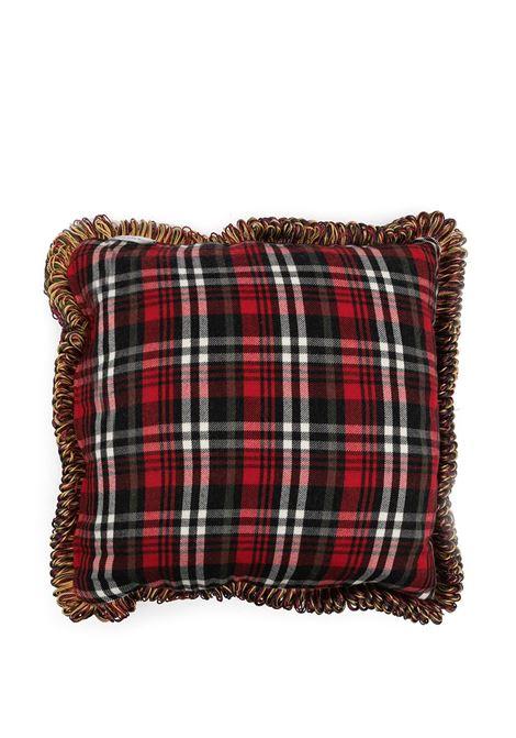 cuscino con fodera stampata in seta e a quadri in flanella PIERRE LOUIS MASCIA | Cuscino | ALOE023503832