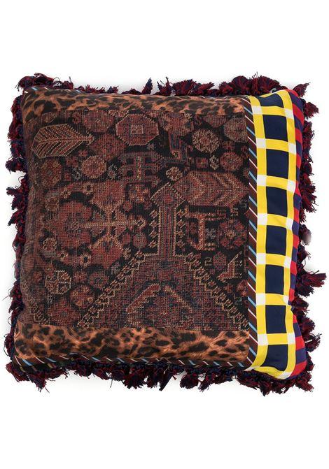 cuscino con fodera stampata e a quadri PIERRE LOUIS MASCIA | Cuscino | ALOE026503835