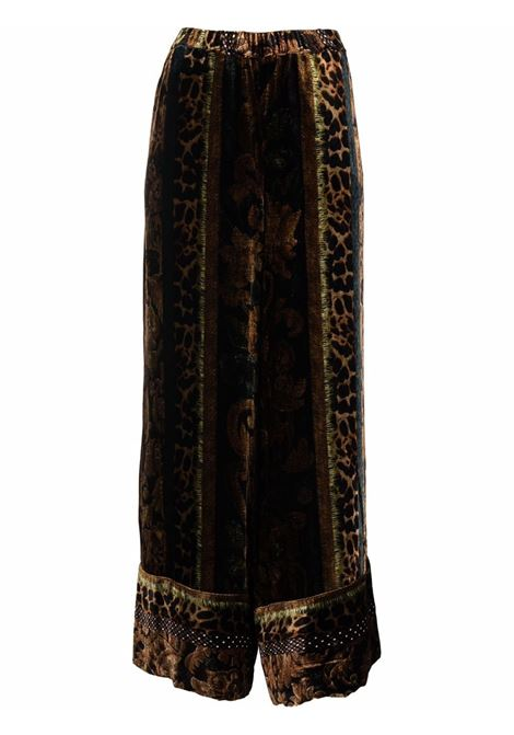pantalone in velluto fantasia a gamba larga PIERRE LOUIS MASCIA | Pantalone | KANPUR/S10766121760