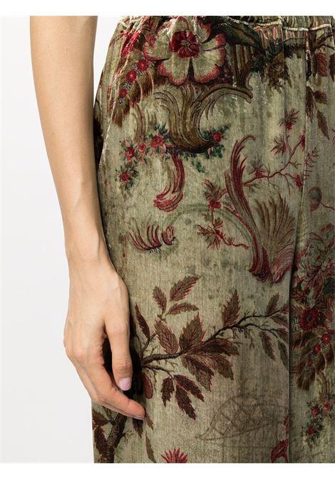 Pantalone in velluto fantasia a gamba larga PIERRE LOUIS MASCIA | Pantalone | KANPUR/S10766122021