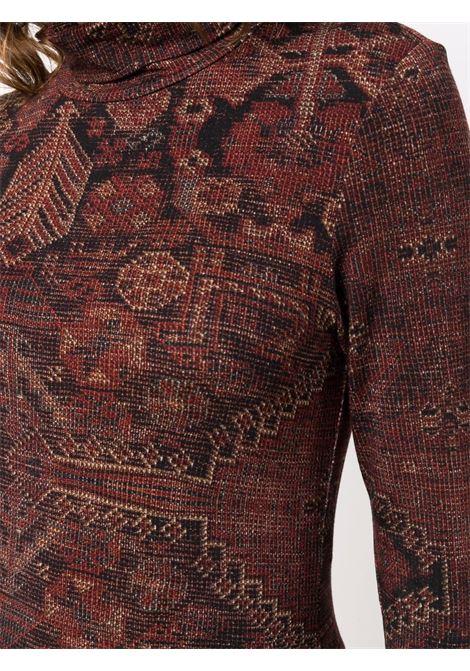 collo alto in jersey stampato PIERRE LOUIS MASCIA | Maglia | SASSONIA/S10968121936