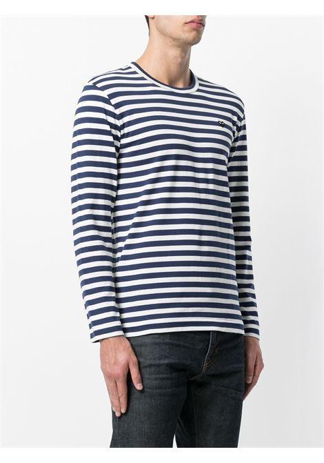 t-shirt manica lunga a righe PLAY COMME DES GARCONS | T-shirt | P1T2101