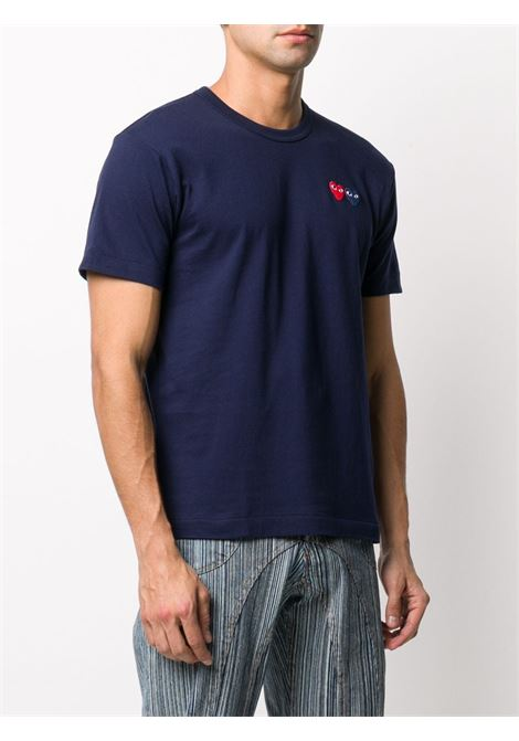 t-shirt manica corta con doppio logo cuore PLAY COMME DES GARCONS | T-shirt | P1T2262
