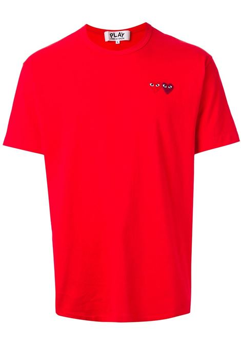 t-shirt manica corta con doppio logo PLAY COMME DES GARCONS | T-shirt | P1T2265