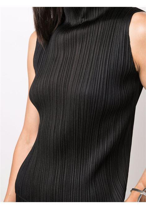 lupetto smanicato in tessuto plissé PLEATS PLEASE | Camicia | PP18JK10215